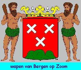 Dit is het wapen van Bergen op Zoom. Dit wapen is te vinden  op de lokatie www.ngw.nl/indexgb.htm   Deze site is mogelijk gemaakt door de  Bank Nederlandse Gemeente te Den Haag