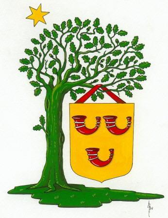 Dit is het wapen van Heeze-Leende. Dit wapen is te vinden  op de lokatie www.ngw.nl/indexgb.htm   Deze site is mogelijk gemaakt door de  Bank Nederlandse Gemeente te Den Haag