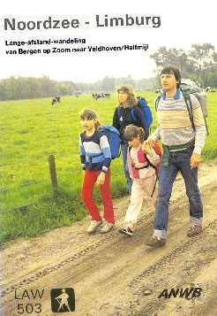 LAW503 Bergen op Zoom - Halfmijl  voorblad wandelboekje
