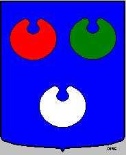 Dit is een oud wapen van Bloemendaal.  Dit wapen is te vinden op de lokatie www.ngw.nl/indexgb.htm   Deze site is mogelijk gemaakt door de  Bank Nederlandse Gemeente te Den Haag