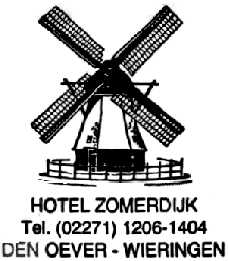 Hotel Zomerdijk te Wieringen - grote rust tijdens Amsterdam-Leeuwarden in 1986