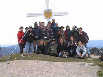 wandelaars op de top van de Annaberg/Tirolerkogel