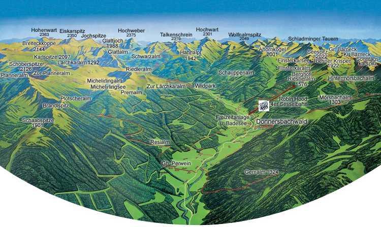 Donnersbachwald panorama