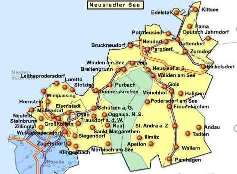 Neusiedler See kaart