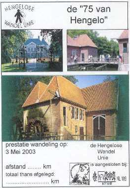 wandelplaatje van DE 75 VAN HENGELO 2003