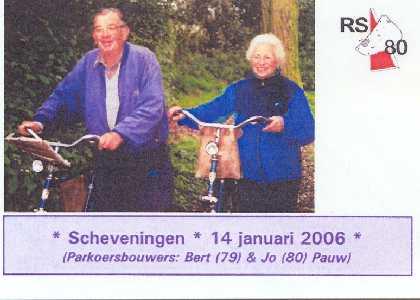 Wandelplaatje van de 25 km lange RS80-wandeltocht  vanuit Scheveningen op 14 januari 2006