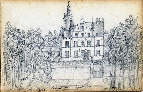 kasteel Zuylestein in 1865