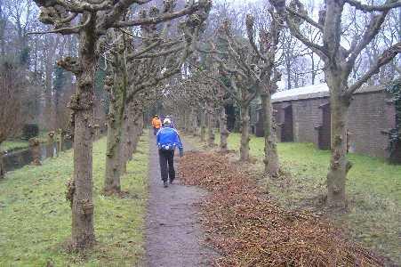 Tijdens de WS78 Vecht- en Poldertocht vanuit Breukelen op 11 februari 2006; op landgoed Nijenrode