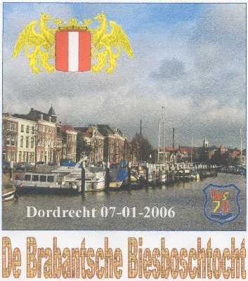 Wandelplaatje van de 40 km lange WS78-wandeltocht  Biesboschtocht vanuit Dordrecht op 7 januari 2006