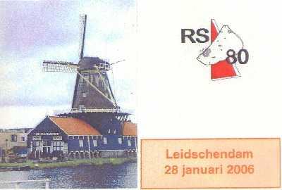Wandelplaatje van de 25 km lange RS80-wandeltocht vanuit Leidschendam op 28 januari 2006