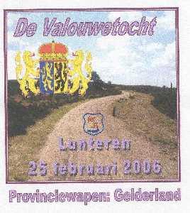 Wandelplaatje van de 40 km lange WS78-wandeltocht  de Valouwetocht vanuit Lunteren op 25 februari 2006