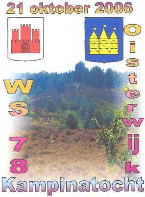 Wandelplaatje van de  40 km lange  Kampina-wandeltocht vanuit Oisterwijk op zaterdag 21 oktober 2006.