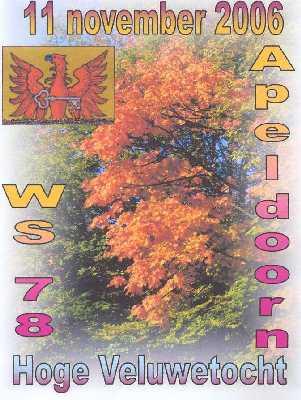 Wandelplaatje van de  40 km lange  Hoge Veluwe-wandeltocht vanuit Apeldoorn op zaterdag 11 november 2006.