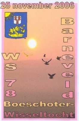 Wandelplaatje van de  40 km lange  Boeschoter Wissel-wandeltocht vanuit Barneveld op zaterdag 25 november 2006.