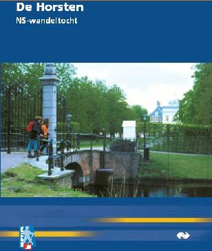 Voorblad wandelboekje NS-wandeling De Horsten