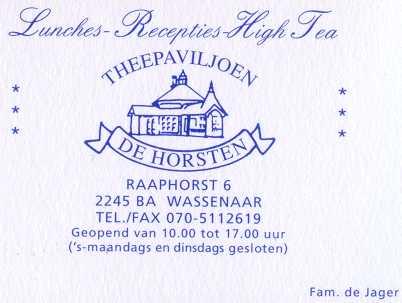 Theepaviljoen De Horsten De Horsten